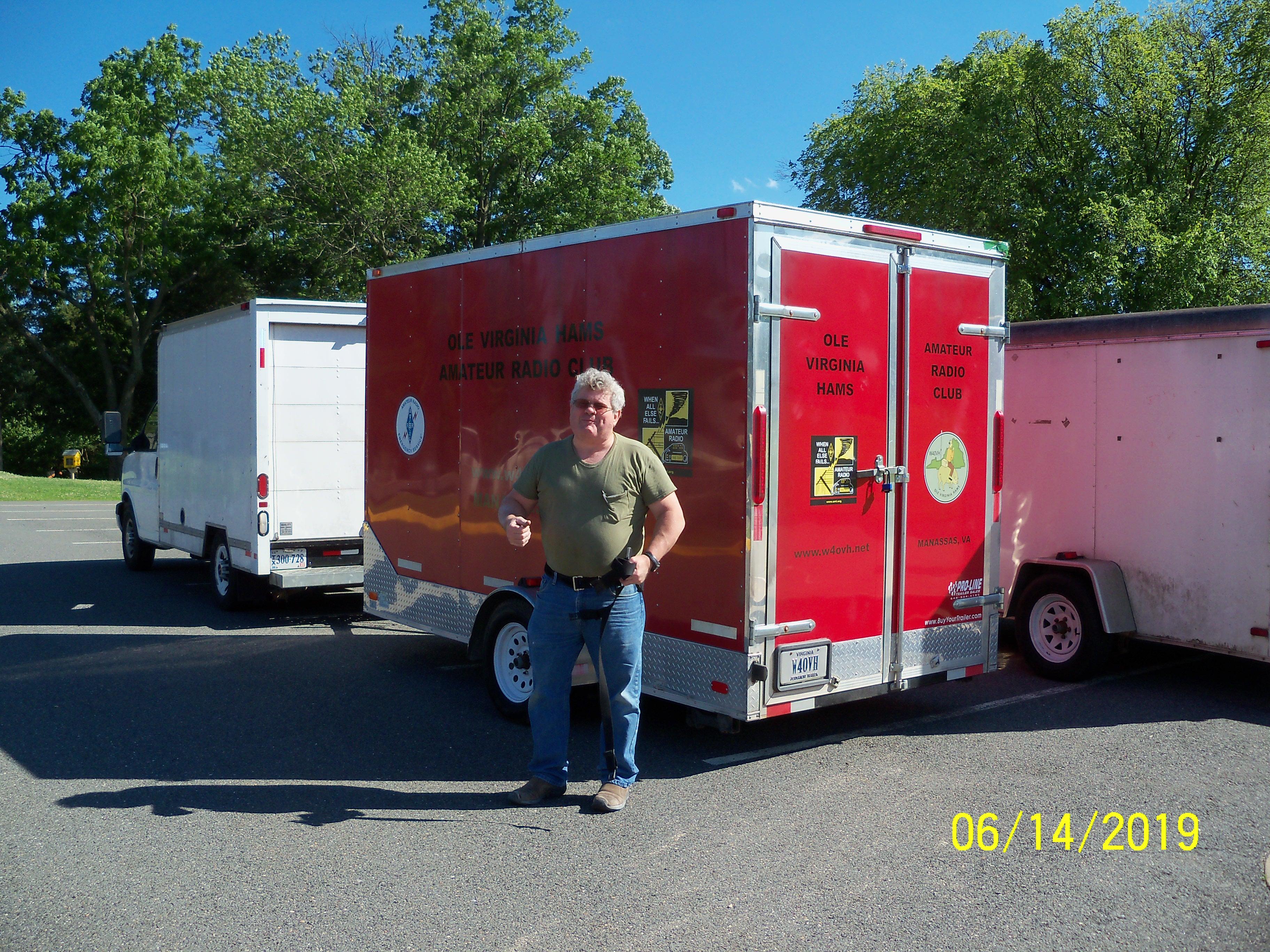 Byron hauled the trailer