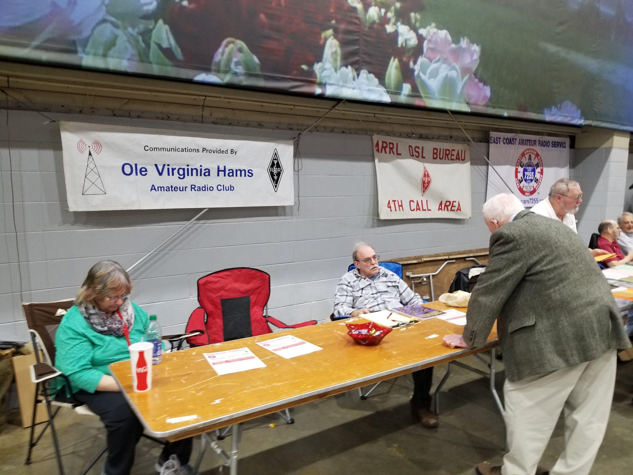 OVH table at Richmond Hamfest