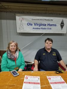 Theresa, KG4TVM, and Don, WA2SWX, at the OVH Frostfest Table