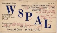 Al Gross' QSL card – W8PAL