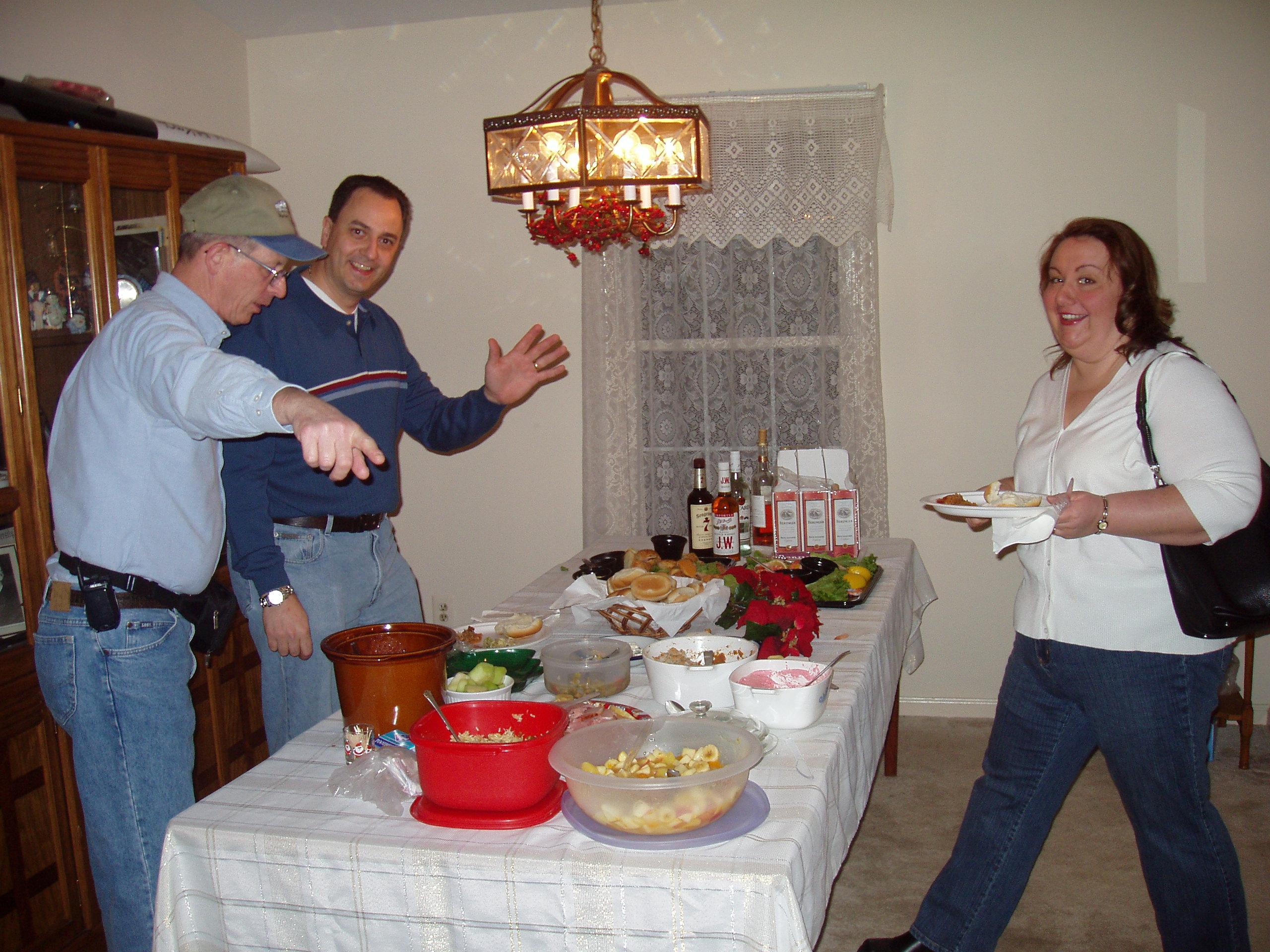 2004 OVH XMAS PARTY - John Z, David and Erika Meola