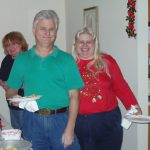 2004 XMAS PARTY - Ruth, Steve and Jan