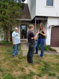 Austen Demsko with Cat, KM4PBD and John, KG4NXT