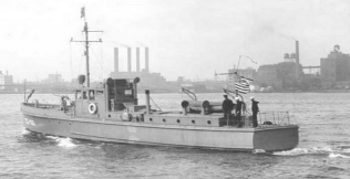 75 ft patrol boat like the one used for HFDF trials.