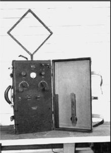 Coast Guard Type X portable direction finder.