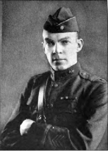 Armstrong in his Signal Corps uniform.