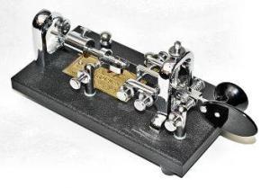 "A mechanical speed key or ""bug""."