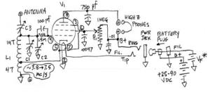 N6CC Single Tube Regen [3] A replica receiver built by N6CC based on POW descriptions