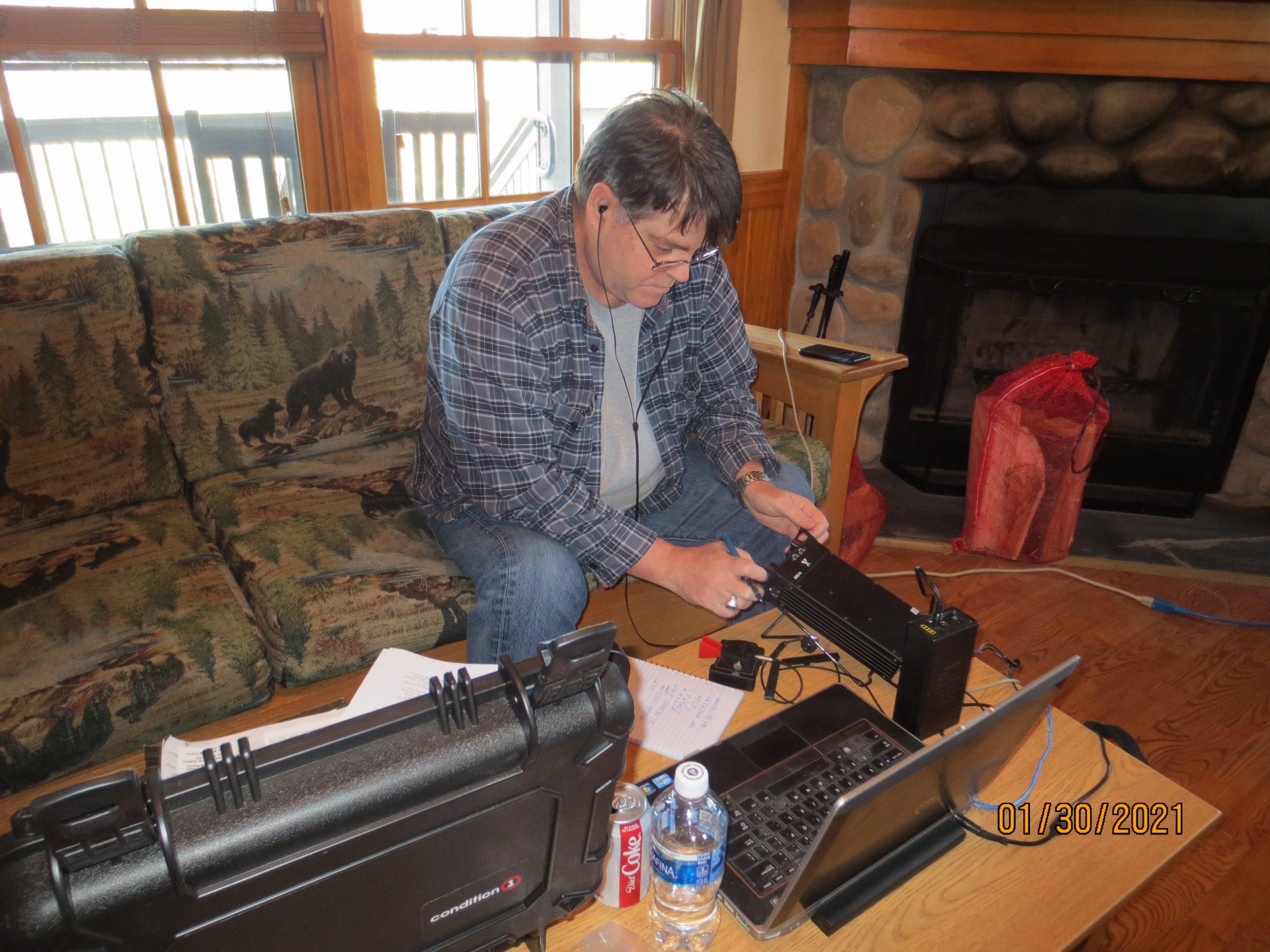 Don WA2SWX operates 20 M cw with 20 watts