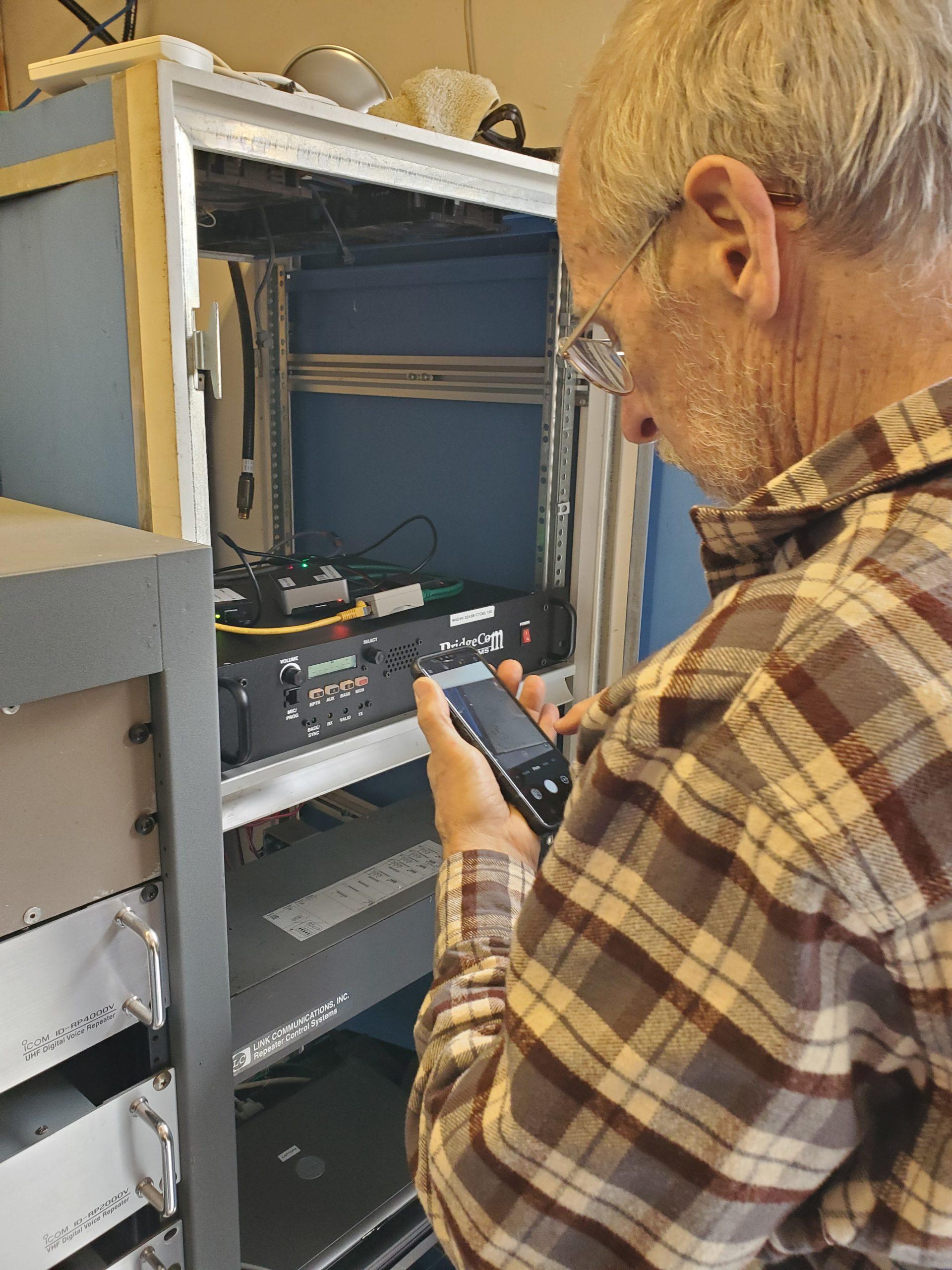 Ken KE2N links up repaired 220 repeater