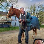 Duane KK4BZ with his horse