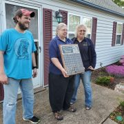 Jan, Jay and Sandy with the plaque