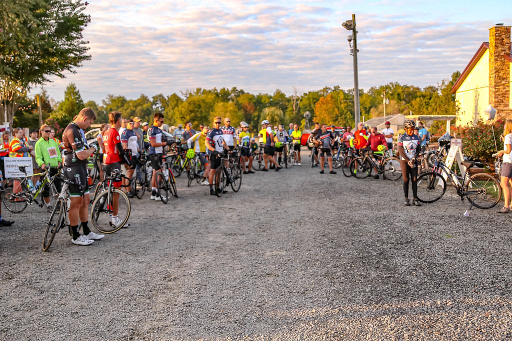 2021 SOWW bike riders waiting for the starting gun