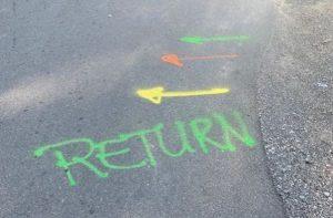 Color Coded Street Arrows - Inbound